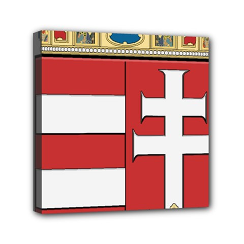 Medieval Coat of Arms of Hungary  Mini Canvas 6  x 6
