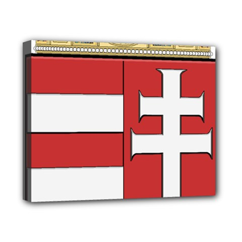 Medieval Coat of Arms of Hungary  Canvas 10  x 8