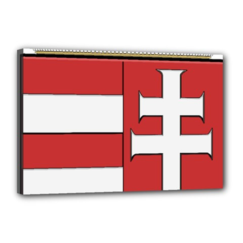 Medieval Coat of Arms of Hungary  Canvas 18  x 12