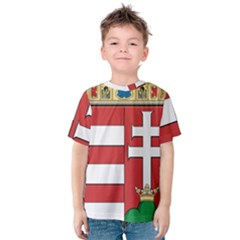 Medieval Coat of Arms of Hungary  Kids  Cotton Tee