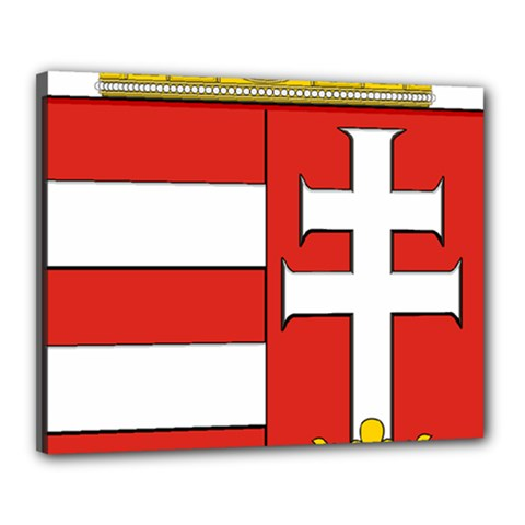 Medieval Coat of Arms of Hungary  Canvas 20  x 16