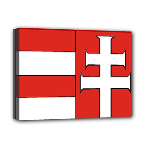 Medieval Coat of Arms of Hungary  Deluxe Canvas 16  x 12