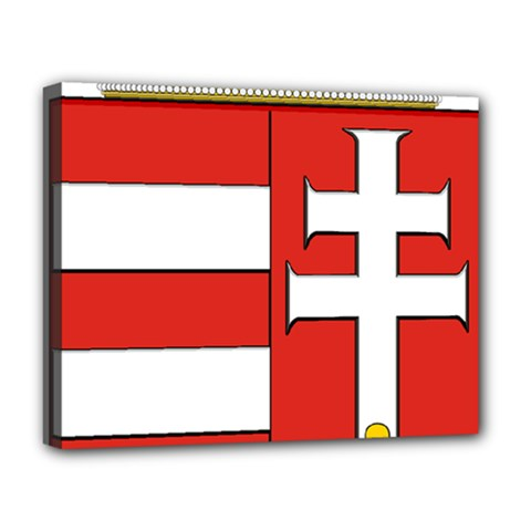Medieval Coat of Arms of Hungary  Deluxe Canvas 20  x 16