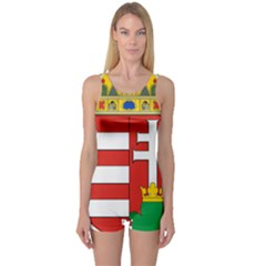 Medieval Coat of Arms of Hungary  One Piece Boyleg Swimsuit