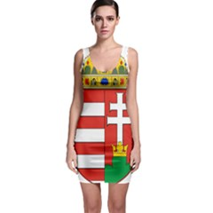 Medieval Coat of Arms of Hungary  Sleeveless Bodycon Dress