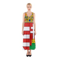 Medieval Coat of Arms of Hungary  Sleeveless Maxi Dress