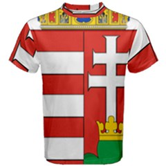 Medieval Coat of Arms of Hungary  Men s Cotton Tee