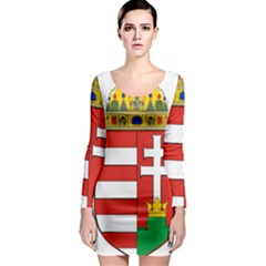 Medieval Coat of Arms of Hungary  Long Sleeve Bodycon Dress