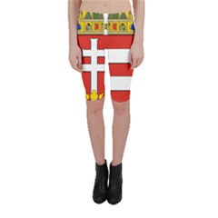 Medieval Coat of Arms of Hungary  Cropped Leggings