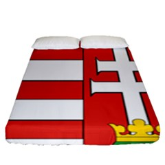 Medieval Coat of Arms of Hungary  Fitted Sheet (Queen Size)