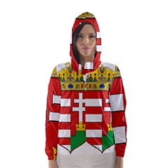 Medieval Coat of Arms of Hungary  Hooded Wind Breaker (Women)