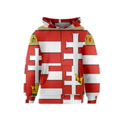 Medieval Coat of Arms of Hungary  Kids  Pullover Hoodie