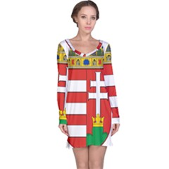 Medieval Coat of Arms of Hungary  Long Sleeve Nightdress