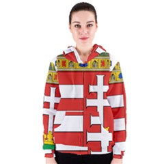 Medieval Coat of Arms of Hungary  Women s Zipper Hoodie