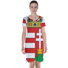 Medieval Coat of Arms of Hungary  Short Sleeve Nightdress