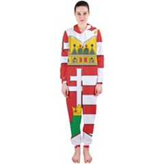 Medieval Coat of Arms of Hungary  Hooded Jumpsuit (Ladies)