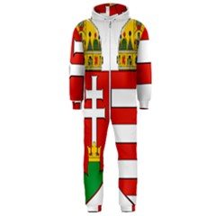 Medieval Coat of Arms of Hungary  Hooded Jumpsuit (Men)