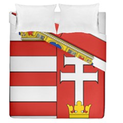 Medieval Coat of Arms of Hungary  Duvet Cover Double Side (Queen Size)