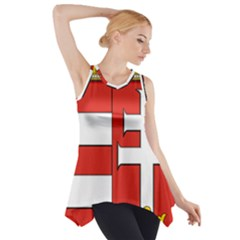 Medieval Coat of Arms of Hungary  Side Drop Tank Tunic