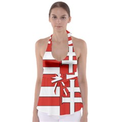 Medieval Coat of Arms of Hungary  Babydoll Tankini Top