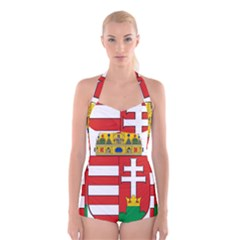 Medieval Coat of Arms of Hungary  Boyleg Halter Swimsuit