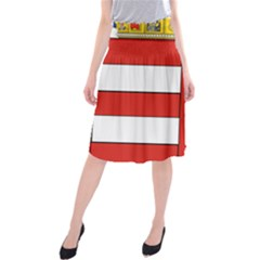 Medieval Coat of Arms of Hungary  Midi Beach Skirt