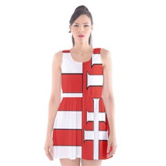 Medieval Coat of Arms of Hungary  Scoop Neck Skater Dress