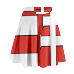 Medieval Coat of Arms of Hungary  High Waist Skirt