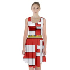 Medieval Coat of Arms of Hungary  Racerback Midi Dress