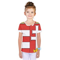 Medieval Coat of Arms of Hungary  Kids  One Piece Tee