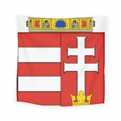 Medieval Coat of Arms of Hungary  Square Tapestry (Small)