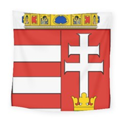 Medieval Coat of Arms of Hungary  Square Tapestry (Large)