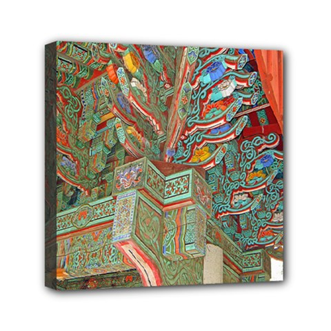 Traditional Korean Painted Paterns Mini Canvas 6  x 6