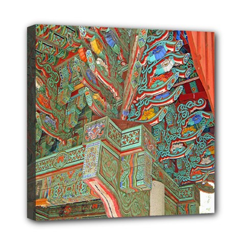 Traditional Korean Painted Paterns Mini Canvas 8  x 8
