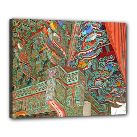 Traditional Korean Painted Paterns Canvas 20  x 16