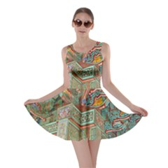 Traditional Korean Painted Paterns Skater Dress