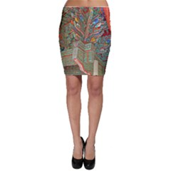Traditional Korean Painted Paterns Bodycon Skirt