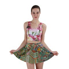 Traditional Korean Painted Paterns Mini Skirt