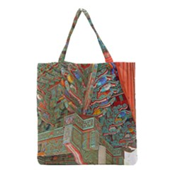 Traditional Korean Painted Paterns Grocery Tote Bag