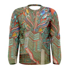 Traditional Korean Painted Paterns Men s Long Sleeve Tee