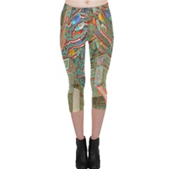 Traditional Korean Painted Paterns Capri Leggings