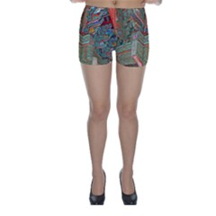 Traditional Korean Painted Paterns Skinny Shorts