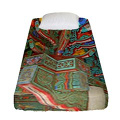 Traditional Korean Painted Paterns Fitted Sheet (Single Size)