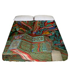 Traditional Korean Painted Paterns Fitted Sheet (King Size)