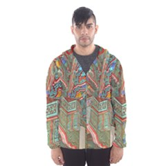 Traditional Korean Painted Paterns Hooded Wind Breaker (Men)