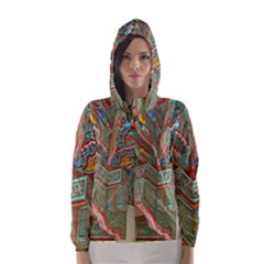 Traditional Korean Painted Paterns Hooded Wind Breaker (Women)