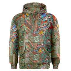 Traditional Korean Painted Paterns Men s Pullover Hoodie