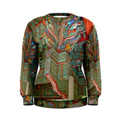 Traditional Korean Painted Paterns Women s Sweatshirt