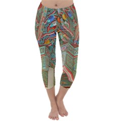 Traditional Korean Painted Paterns Capri Winter Leggings