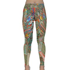 Traditional Korean Painted Paterns Classic Yoga Leggings